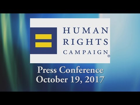 Human Rights Campaign Press Conference - 10/19/17