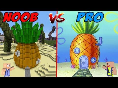 minecraft:-noob-vs-pro---rumah-spongebob-squarepants