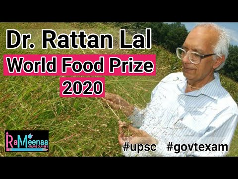 Indian American Dr Rattan lal wins World Food prize 2020   World Food Prize 2020