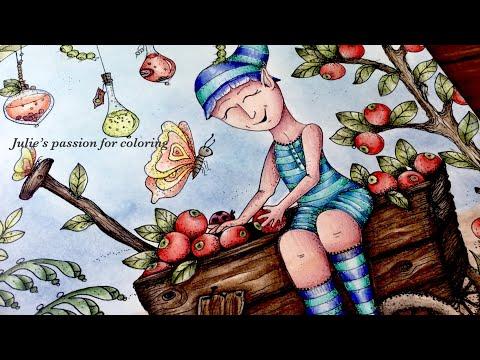 MAGICAL DELIGHTS by Klara Markova - prismacolor pencils - color along