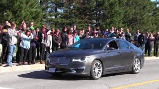 Dozens of people watched a BlackBerry QNX-equipped autonomous car hit the road Thursday for an on-street test in Ottawa. BlackBerry QNX?s general manager says he envisions more safety features in future self-driving cars. (The Canadian Press)
