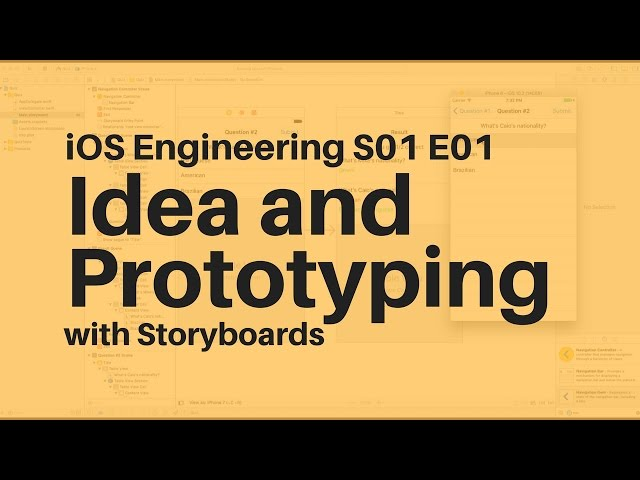 S01e01 Swift App Idea And Prototyping With Storyboards