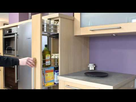 cuisine mur violet placard epices youtube. Black Bedroom Furniture Sets. Home Design Ideas