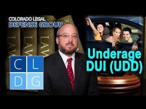 """Underage DUI """"UDD"""" Laws in Colorado"""