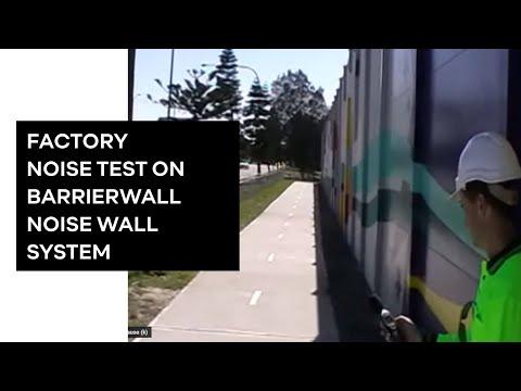 Modular Wall Systems Factory sound test www.modularwalls.com.au