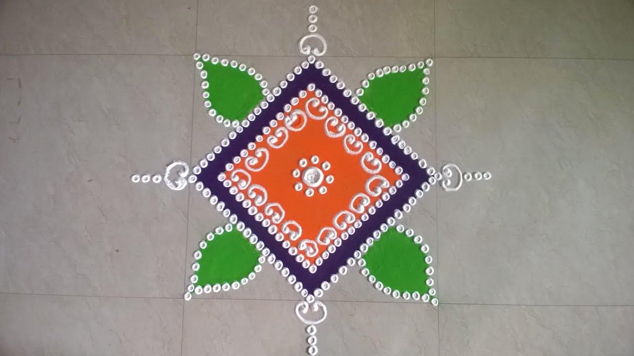 Sanskar Bharti Rangoli Design - YouTube