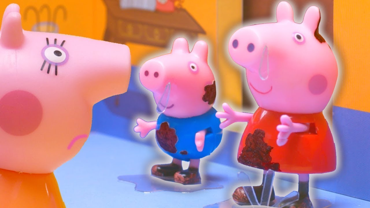 Peppa Pig Official Channel | Peppa Pig Stop Motion: Muddy Peppa Pig