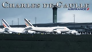 FSX [HD] - Air France | Boeing 747-400 | Approach to Charles de Gaulle