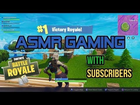 ASMR Gaming   Fortnite Battle Royale 41st Win With Subscribers! ★Controller Sounds + Whispering☆