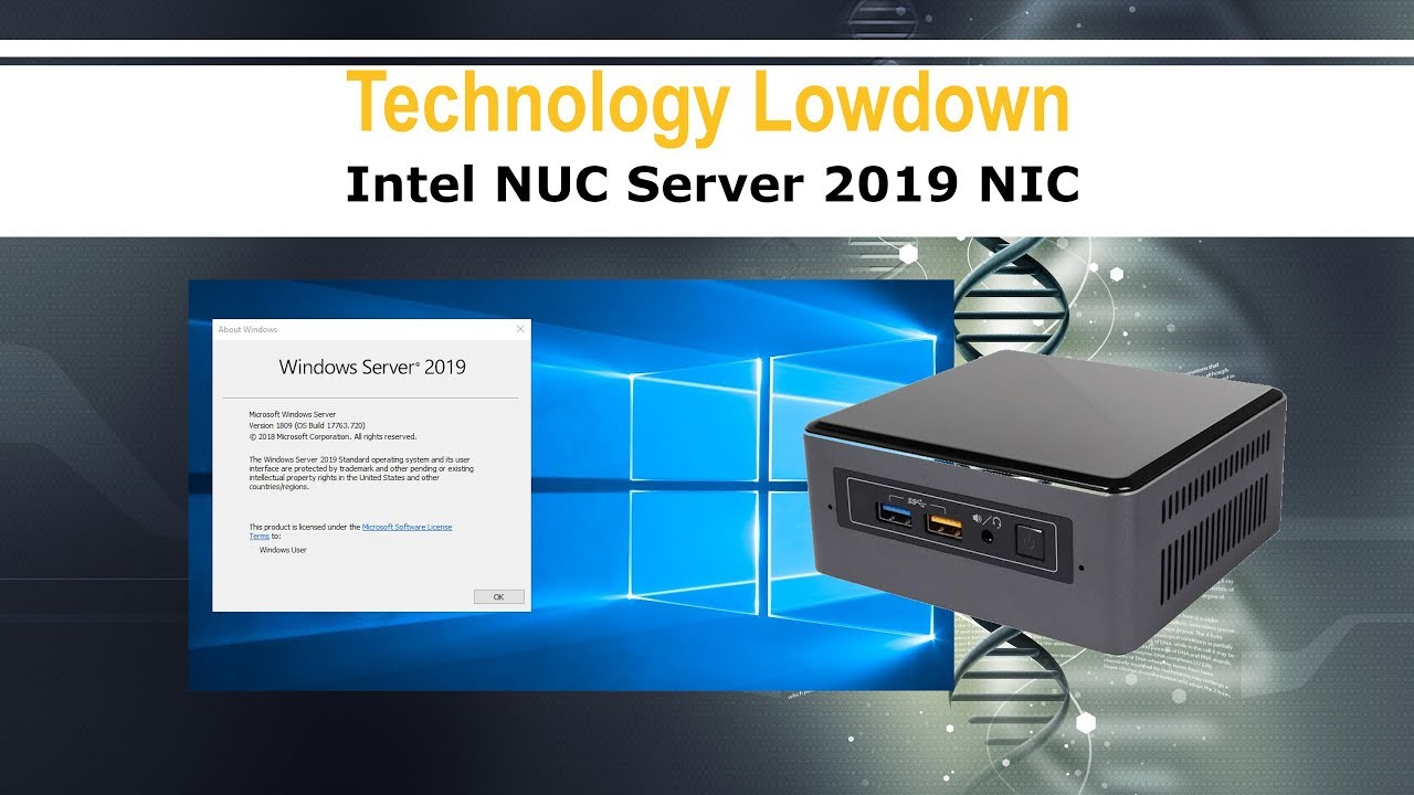 Microsoft Server 2019 | Installing the Intel NUC Network Card