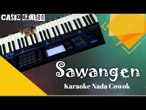SAWANGEN (Cowok) Lirik Karaoke full Koplo