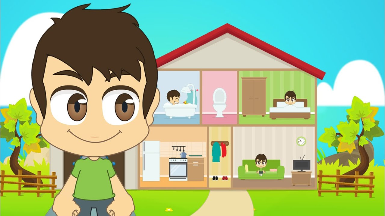 Learn House Kitchen And School Vocabulary مصطلحات المنزل المطبخ و المدرسة للأطفال Youtube