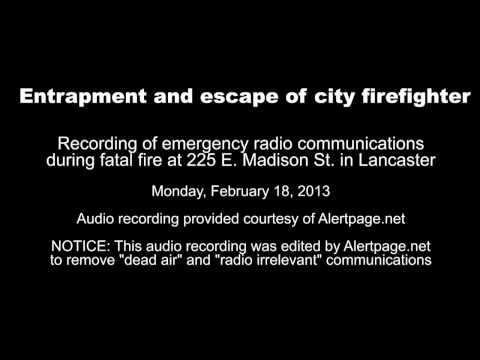 Radio communications during fatal E. Madison St. fire in Lancaster