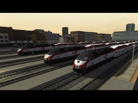 Train Simulator 2017: Peninsula Corridor (MPI MP36PH) San Francisco to San Jose HD