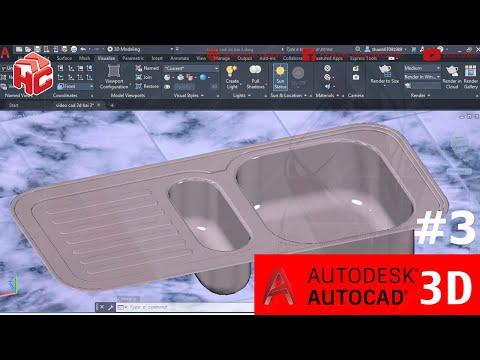[hoccokhi] Học AutoCAD 3D nâng cao bài 03 | Hướng dẫn vẽ bồn rửa inox trên AutoCAD 3D cơ khí