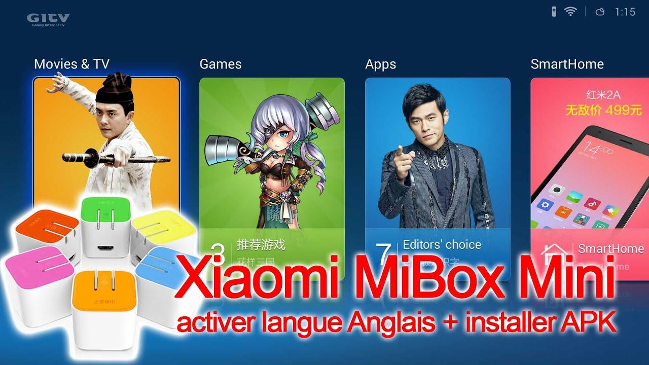 [TUTO] XiaomiMiBoxMini – Activer Anglais + Installer APK  #Smartphone #Android