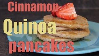 Delicious Vegan Cinnamon Quinoa Pancakes!