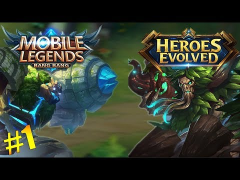 Heroes Evolved And Mobile Legends Similar Heroes! | (Side-By-Side Comparison!) PART 1