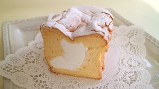 This is fluffy and rich, melt-in-your-mouth, soft chiffon cake. ふ...