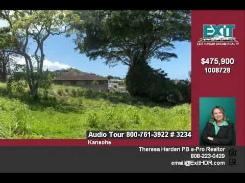 Oahu Real Estate For Sale, Vacant Windward Lot, Kaneohe Hawaii