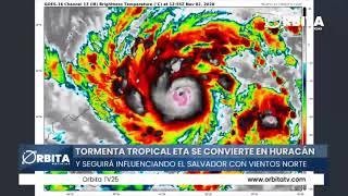 Tormenta Tropical ETA se convierte en huracán y seguirá influenciando El Salvador con vientos norte