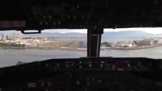 Приземление самолета в Рио-де-Жанейро в аэропорту Сантос Дюмонт(, 2014-09-22T01:12:59.000Z)