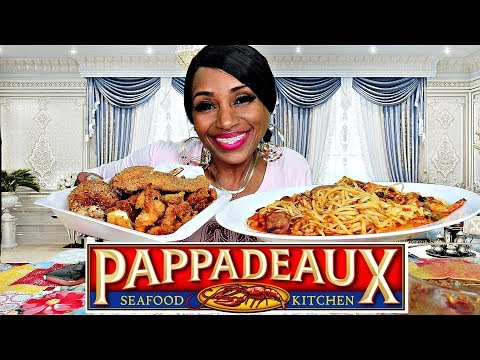 Pappadeaux Seafood Kitchen' Stuffed Blue Crab & Shrimp Mukbang