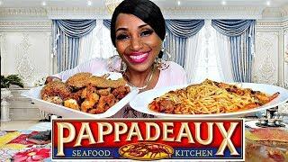 Baixar Pappadeaux Seafood Kitchen' Stuffed Blue Crab & Shrimp Mukbang