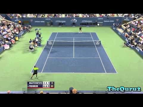 US OPEN 2014 R1 Roger Federer vs Marinko Matosevic