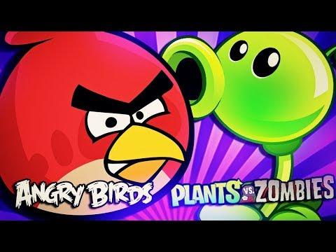 Angry Birds VS. Plantas vs Zumbis (PvZ) [Batalha de Gigantes]