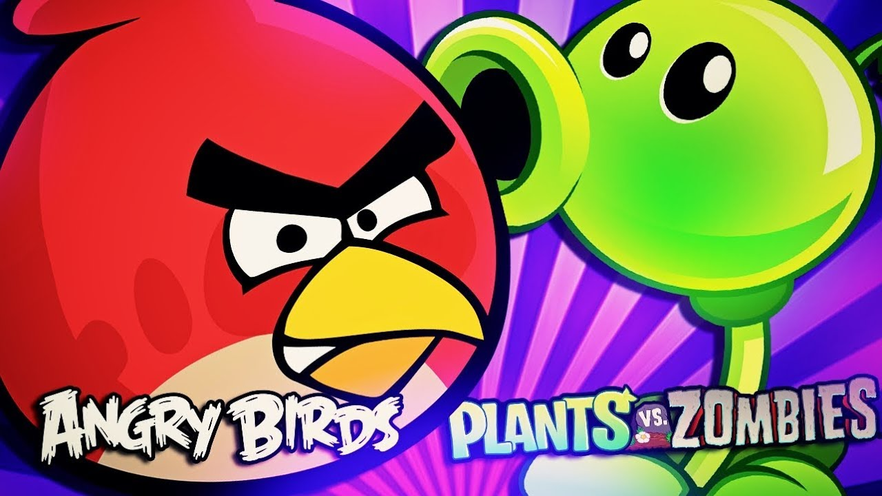 Angry Birds Vs Plantas Vs Zumbis Pvz Batalha De Gigantes