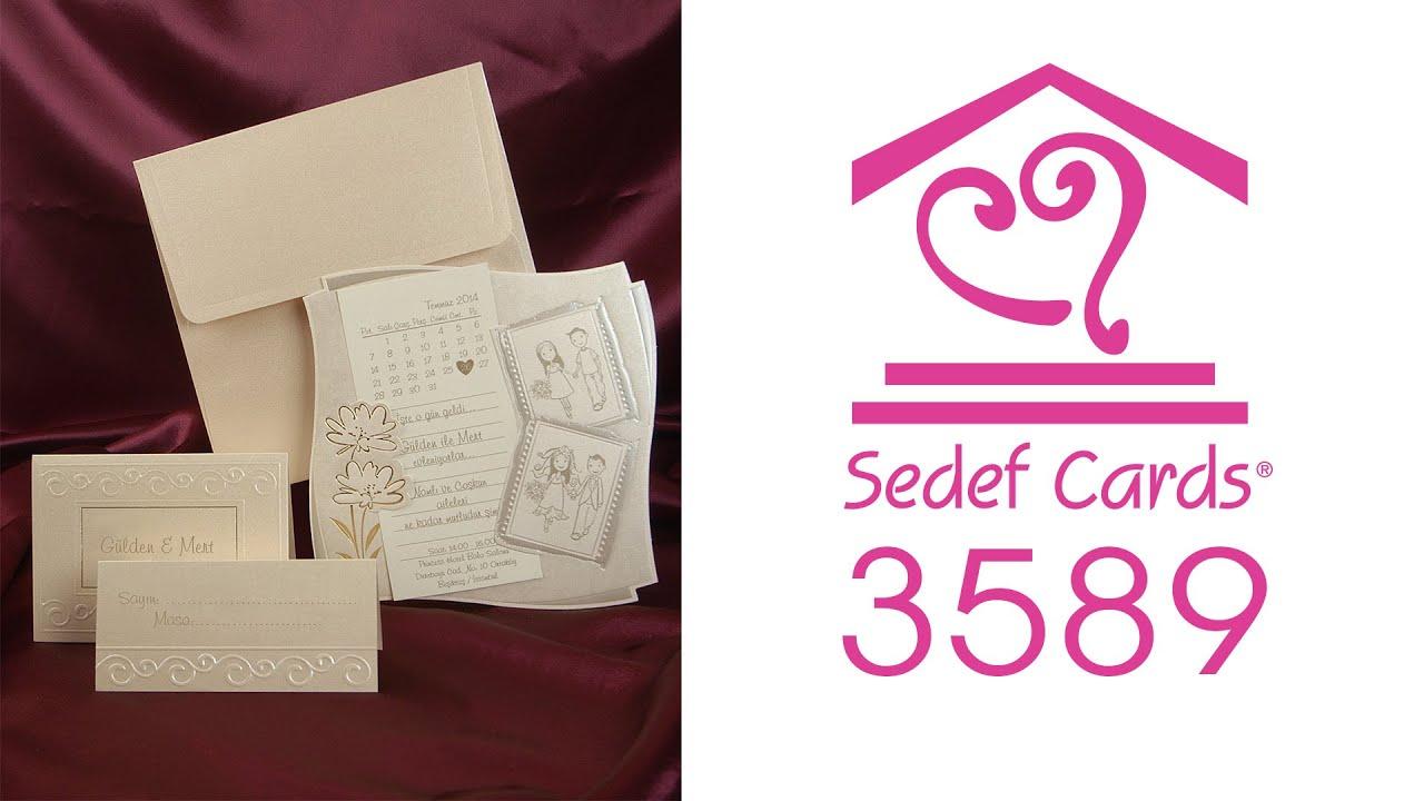 Sedef Cards © | 3589 | Sedef Collection | Düğün Davetiyeleri | Wedding  Invitation
