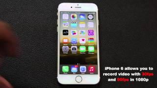 iphone 6 tip how to record video at 60 fps in 1080p