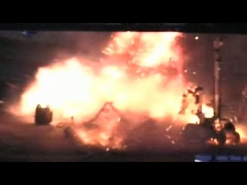 New video of explosion in New Jersey