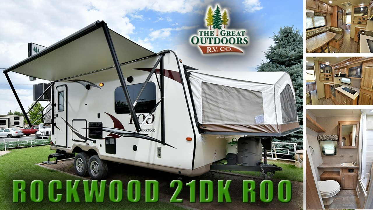 2018 Tip Out Hybrid Rockwood 21dk Roo Bunk Ends Colorado Dealer