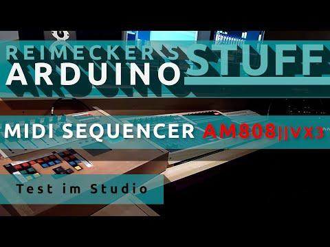 Racktile Records Demo Video Arduino Midi Sequencer AM808 VX3