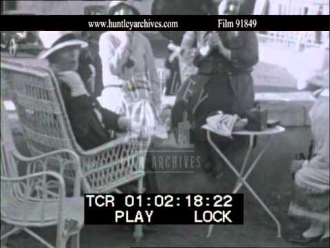 Egypt 1927, tourists drinking.  Archive film 91849