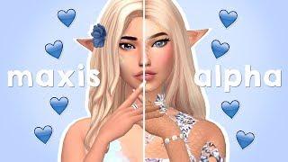 ALPHA VS MAXIS MATCH - MERMAID EDITION | Sims 4 Create A Sim
