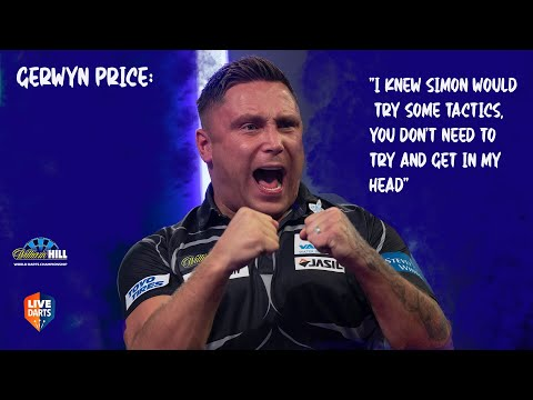 """Gerwyn Price: """"I knew Simon would try some tactics, you don't need to try and get in my head"""""""
