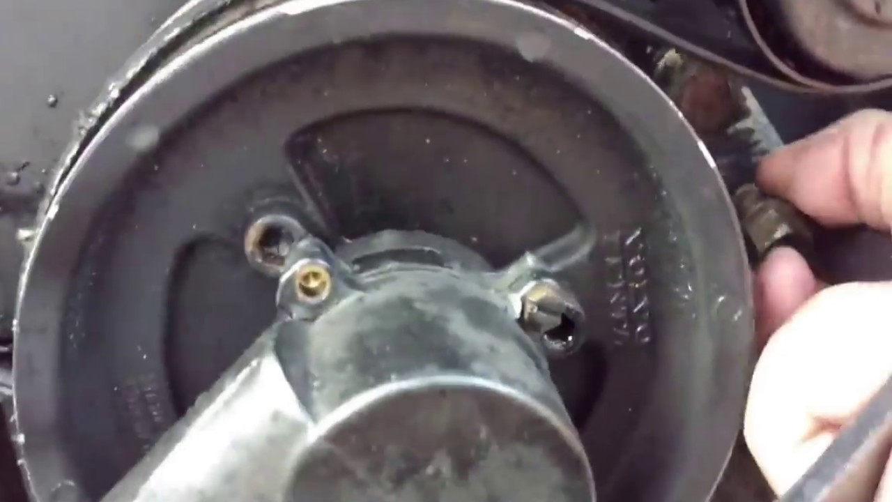 volvo penta 3 0l replace belt inspect water impeller tighten water pump bar [ 1280 x 720 Pixel ]