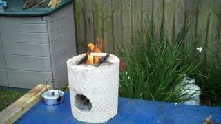 Rocket Stove Test! Boiling Water