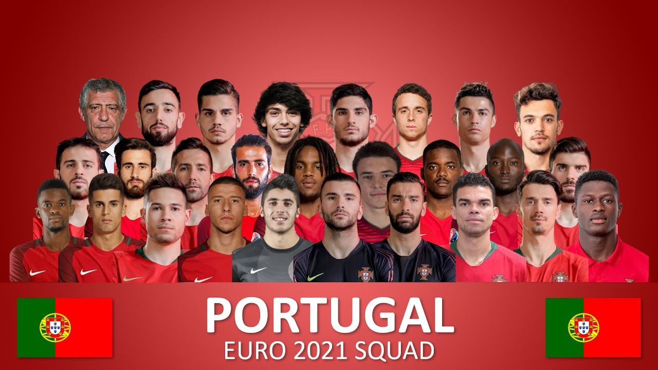 Portugal Euro 2021 Squad Official Players And Numbers Selecao Das Quinas Tugas Youtube