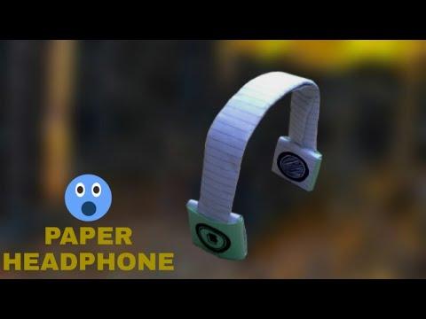How To Make Paper Headphone