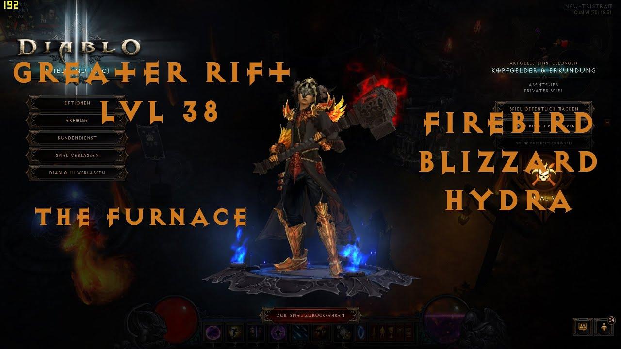 Diablo 3 Wizard Solo GR 38 Furnace Firebird Blizzard/Hydra ...