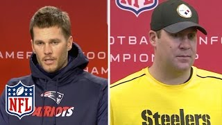 Tom Brady & Big Ben Compliment Each Other | NFL Press Conference