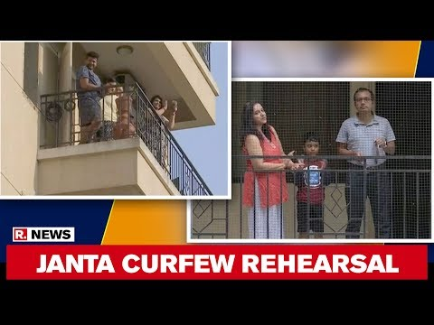 watch:-bengaluru-residents-rehearse-clapping-ahead-of-janta-curfew-on-sunday