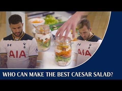 Kyle Walker v Harry Kane - Who can make the best Caesar salad?