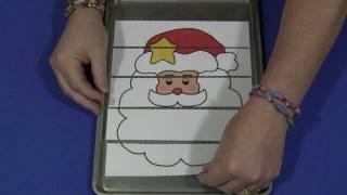 Santa Scissor Skills Puzzle