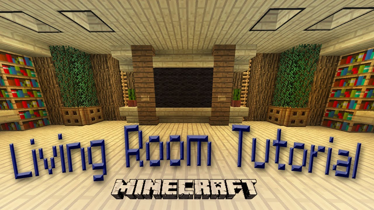 Minecraft how to make an awesome living room design youtube for Room design builder