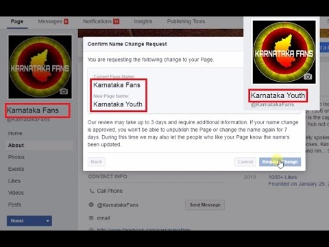 How to change your page name on facebook after 200 likes